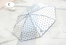 Top Sell 2016 Novelty Print Transparent Umbrella Folding Umbrella Parasols Gift B227 -2(China)