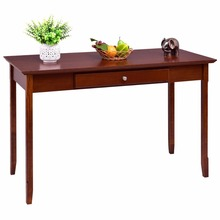 Goplus Wood Console Table Student Writing Desk with One Drawer Entryway Living Room Furniture Office Home Modern Tables HW56277(China)