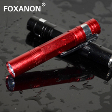 Foxanon Brand LED Flashlight Mini LED Torch 3W 260LM CREE Chip waterproof design Red aluminium shell High Quality lighting 1pcs(China)