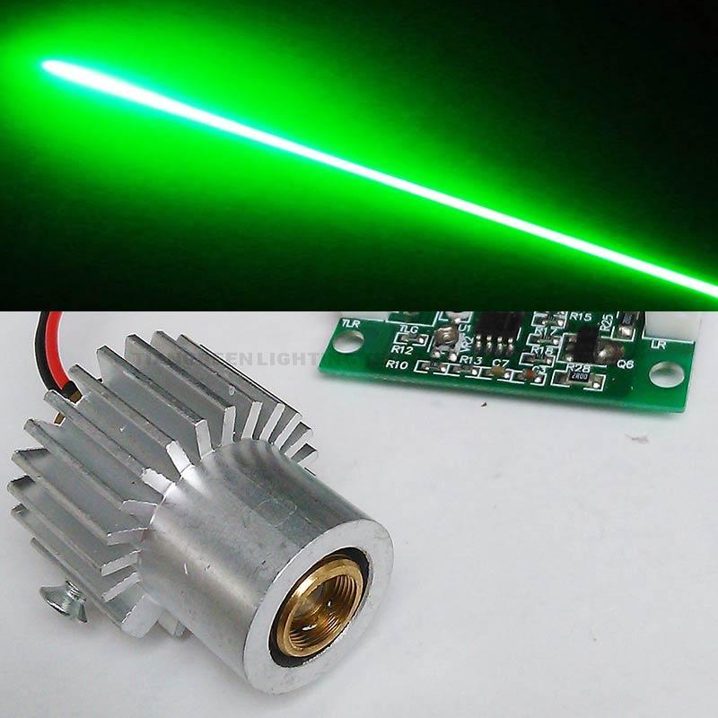 Diode Laser 100mW 532nm Green Laser Module with Aluminum Heat Sink TTL Laser Driver DC5V<br>