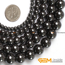 Round Black Hematite Beads,Selectable Size 2mm To 16mm,Fashion DIY Beads,Natural Stone Beads,Strand 15 Inches Free Shipping !