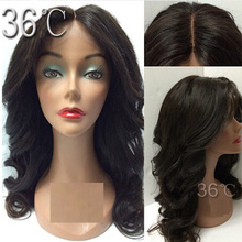 Peruvian Virgin Hair Silk Top Full Lace Wigs Human Hair 4x4 Silk Base Lace front Human Hair Wig For Black Women With Middle Part