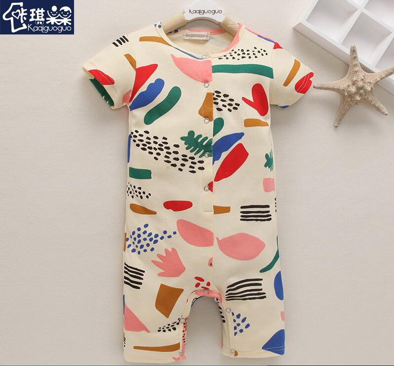 Baby Rompers Watermelon Fashion Brand 100% Cotton Short-Sleeve Ropa Bebe Infant Gril Jumpsuit Newborn Baby Boy Clothes<br><br>Aliexpress