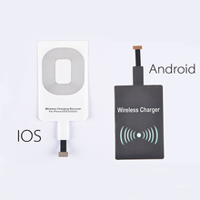 HW02 Qi Standard Smart Wireless Charging Pad Charger Coil Receiver for Android for iPhone 5s SE 6 6s Plus For Samsung S6 S7 Note