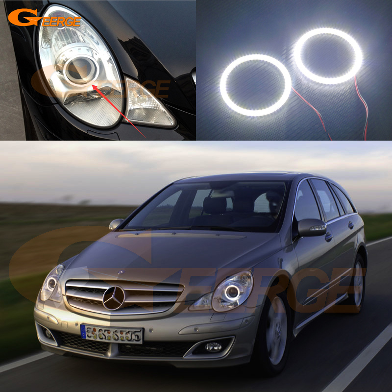 For Mercedes Benz R320 R350 R500 R63 06 07 08 09 10 headlight Excellent Ultra bright illumination smd led Angel Eyes kit<br>