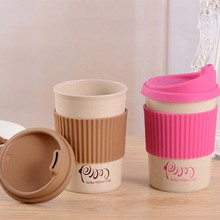 350/450/550ml Brief PP Plastic Coffee Cup Solid Color Coffee Tea Drinking Cup Travel Drinkware(China)