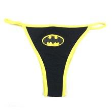66e3b7f4b714 Women Sexy Batman G-String Thongs Lingerie Superman Underwear Captain  America Briefs Panties Knickers(