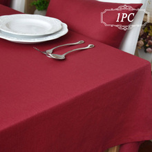 Rectangle Table Cover New Soild Color Linen Tablecloths for Wedding  Home Decor Table Cloth 5 Colors in Event & Party Supplier