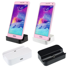 wholesale 5pcs/lot Data Sync Micro USB Charger Dock Adapter For Samsung Galaxy S4 S3 Note 2 3 N7100 HTC Docking Station(China)