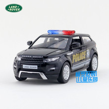 RMZCity/1:36 Diecast Toy model/Simulation:Rover Evoque police/Educational Pull Back Car for children's gift or collection