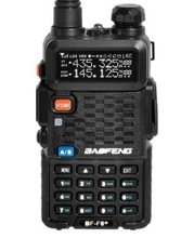Baofeng BF-F8+ Walkie Talkie 5W 128CH UHF + VHF DTMF VOX Dual Band Dual Frequency FM Radio, HT - With Battery two-way radio