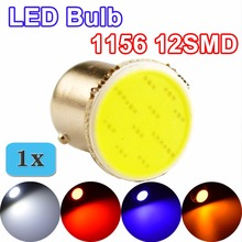 1156 COB BA15S LED Bulb P21W 12SMD White / Red / Blue / Yellow Car Lamp Automotive Bulb 12V Truck RV Auto Vehicle Light(China)