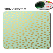 Mairuige 180x22OX2MM Chic Mint Gold Confetti Dots Mouse Pad Great Office Accessory and Gift(China)