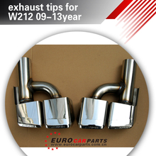 E63 exhaust tips fit for MB E-class W212 all year style W212 E63 exhaust tips, with logo