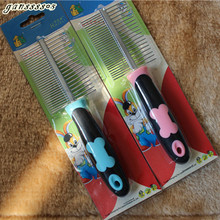 High Pet Dog Two-sided Combs Straight Combs Cartoon Pins Dog Bones Grooming Brush