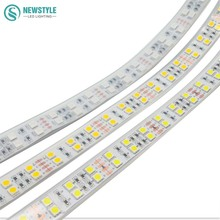 Double Row LED Strip 5050 DC12V Silicone Tube Waterproof Flexible LED Light  Warm white white RGB  5m/lot home decoration