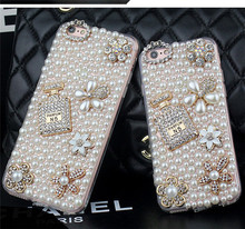 New Luxury Perfume Diamond Cell Phone Case for Samsung Galaxy S6 S6 Edge S6 Edge Plus S7 S7 Edge Top Quality PC Hard Back Cover