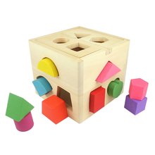 Kids Educational Toys wooden geometry boys box wooden puzzles games Early Learning Birthday Toys for Children brinquedos PT703(China)