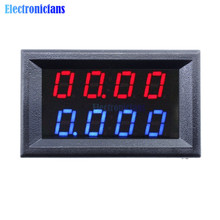 0.28 Inch Digital DC Voltmeter Ammeter 4 Bit 5 Wires DC 200V 10A Voltage Current Meter Power Supply Red Blue LED Dual Display(China)