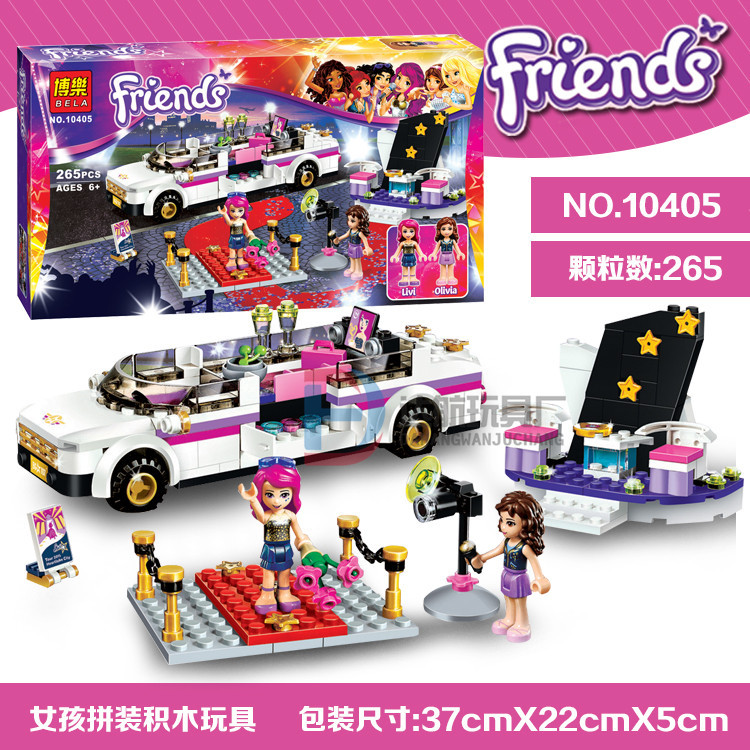 Bela 10405 friends series Pop Stars Luxury car 265pcs building blocks bricks toys children gift Compatible With Lego 41107<br><br>Aliexpress