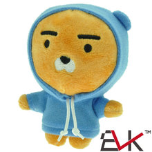 4'' Korea kakao friends blue lion plush toy cartoon Ryan doll friend kidz girl boy gifts christmas presents keychain toy pendant