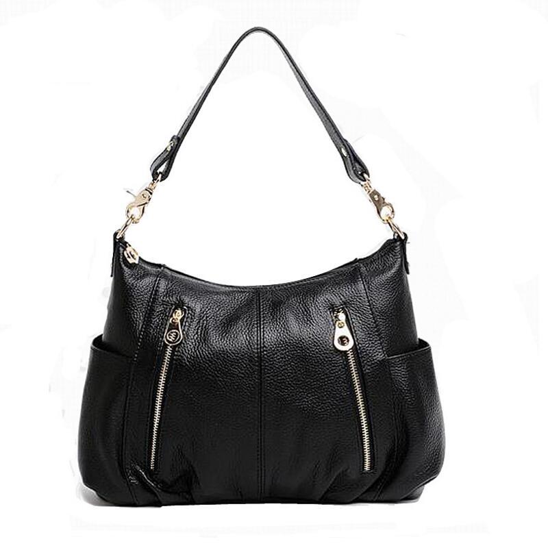 100% Nature Cowhide Women Messenger Bags High Quality Designer Crossbody Bags Female Shoulder Bags KM22<br>