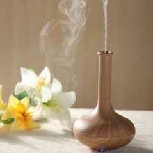 Mist Maker Aromatherapy Air Humidifier Aroma Atomizer LED Ultrasonic Purifier Wooden evaporator Diffuser for home conditioning