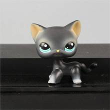 Pet shop Gray blue eyes black Yellow tiger Short Hair kitty Collection classic animal pet lps toys Action figures kids  gift