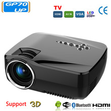 Mini Portable Projector GP70UP LED Set in Android 4.4 WIFI Bluetooth Support Full Hd 1080p Video Media player Hdmi LCD 3D Beamer