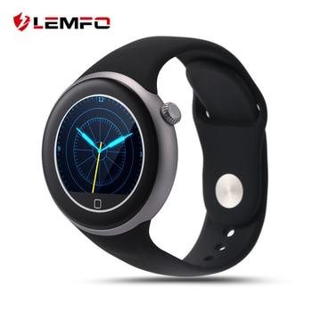 Lemfo c1 deporte a prueba de agua smart watch ip67 mtk2502 gesture control de pantalla redonda de siri bluetooth smartwatch para android ios teléfono