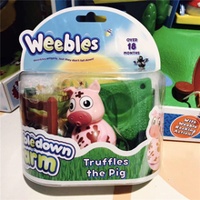Weebledown Farm Weebles Figure amp Base Truffles The Pig by Character Options Tumbler toysSmall animal Children's gifts