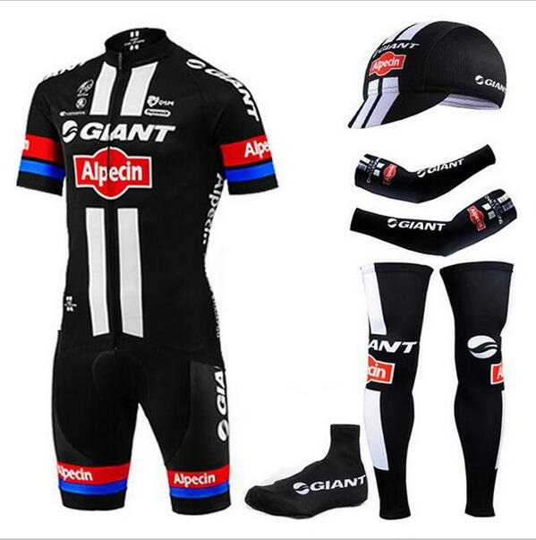 6 Pieces / lot 100% polyester PRO BIKE JERSEY 2016 Giant cycling jersey bibs set with sleeve warmers and half finger BIEK GLOVES<br><br>Aliexpress