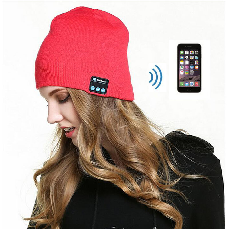 Top Fashion High Quality Warm Beanie Hat Wireless Bluetooth Smart Cap Headphone Headset Speaker Mic Free ShippingОдежда и ак�е��уары<br><br><br>Aliexpress