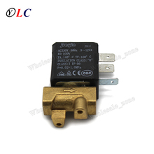 JYZ-3M Normally Closed N.C 2/2 Way Direct-acting AC 230V G1/8' Brass Steam Air Water 2 Position Solenoid Valve Coffee Makers(China)