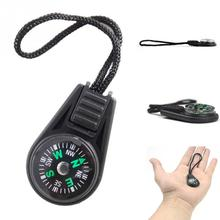 Portable Mini Compass Navigator for Camping Caving Hiking Hiker with Sling/Lanyard Outdoor Direction Guiding Device