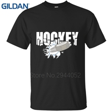 Funny tee shirt cotton Hockeyer blue t shirts mans Homme Size S To 4Xl Character uniform make t shirts