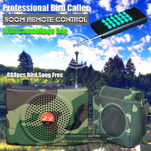 Free Shipping Camouflage 500M Remote Control Outdoor Hunting Decoy Bird Caller Sound Speaker Voice Amplifier 888pcs Bird Songs(China)