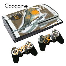 Vinyl Bird Sticker Protective Cover For Sony PS3 PS 3 Fat Console & 2 Pads For Play station 3 Fat Games Made in China(China)