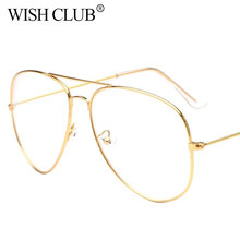 2017 Classic Optics Clear Glasses Women Aviator glasses Men Transparent Eyeglasses Metal Frame Eyeglasses Unisex Sun Glasses