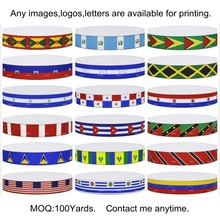 18 Choices America Countries National Flag Printed Grosgrain Ribbons for DIY Hair Baby Craft Party Candy Gift Home Decoration(China)