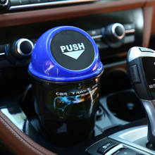 Car Mini Trash Can Garbage Dust Case Holder Bin car-styling Trash Rubbish Mini Office Home Auto Vehicle Car Accessories