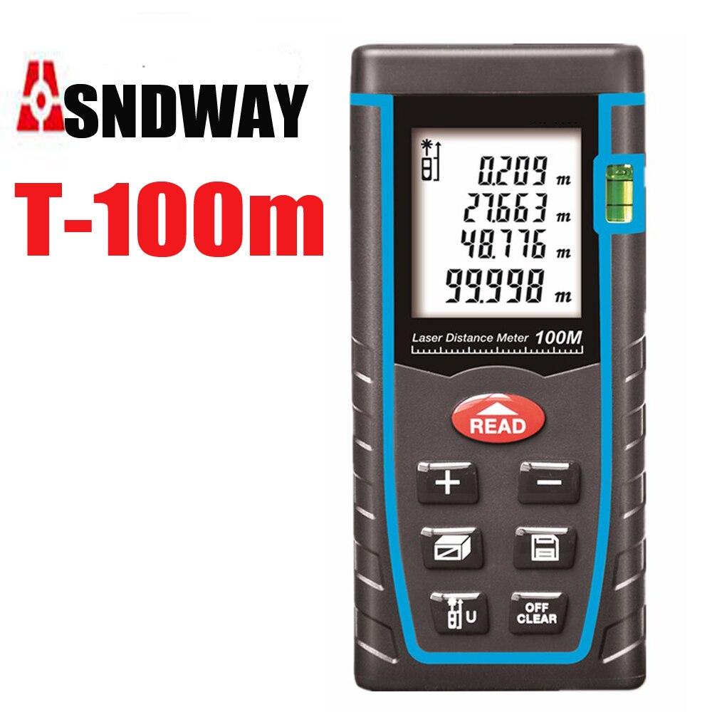 100M rangefinder Digital laser Electronci Ruler distance meter Tape Measure Area/volume M/Ft/in<br>