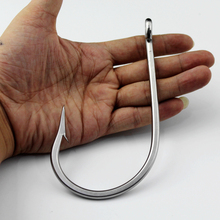 Ultra Strong Shark Tuna Large Huge Big Game Ocean Fishing Hook Stainless Steel Barbed Sea Peche Boat Fishing Hooks 16/0 20/0