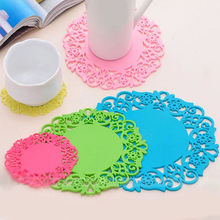 Colorful Cup Mat Silicone Soft Rubber Coaster Cup Pad for Hot Mug Glass Plate Table Decoration 2017 New Drop Shipping