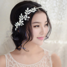 1pc 2017 Korean Sweet Bridal Bride Prom Floral Flower Wedding Headpiece Headband Classic Hair Jewelry Decoration Accessory White(China)