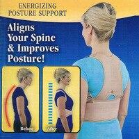 Унисекс Регулируемый магнитотерапия Корректор осанки Брейс плеча ниже талии Ортопедическая спинка Поддержка ремень Поддержка brace