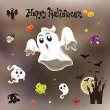 New 50*70CM Halloween Decorations Window Glass Wall Stickers Shop Bar KTV Supplies Poster Home Decoration Accessories For Kids(China)