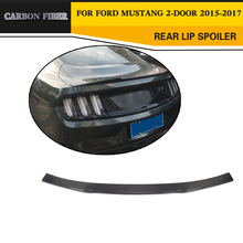 Car Styling Carbon Fiber Racing Trunk Lip Spoiler Wing for Ford Mustang Coupe 2015-2017(China)