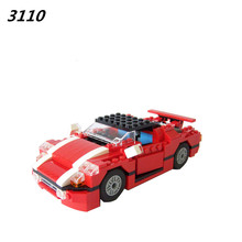 AIBOULLY New 278Pcs New 3110 Architect Vehicles Model Building Kits 23 in 1 Car Styling Forklift Blocks Bricks toys brinquedos