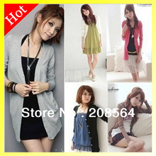 Hot Sale In Spring And Autumn Ladies' V-Neck Cardigan Sweaters 1265